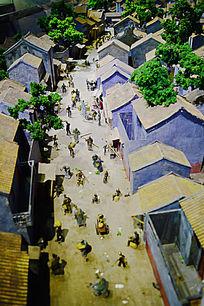 古代人物建筑模型