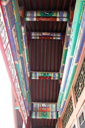 古建筑顶棚彩绘图片