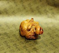 木雕蜗牛小摆件