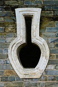 瓶子形古建筑窗户