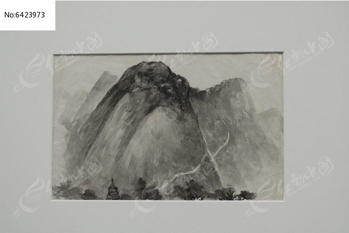 山峰山脉水墨写生高清图片下载 红动网