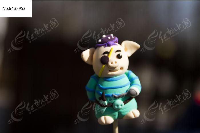 手工制作面泥小猪