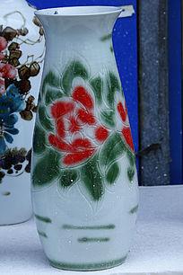 彩绘牡丹花瓶工艺品