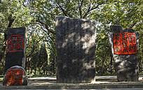 清华大学书法雕刻石