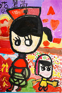 儿童卡通彩画