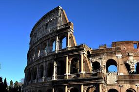 古罗马竞技场废墟