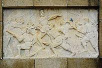 抗日雕像画