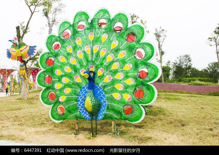 孔雀风筝图片,高清大图