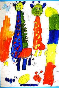 水彩创意动物画
