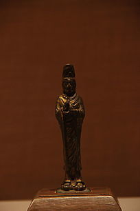 铜镀金观音菩萨像