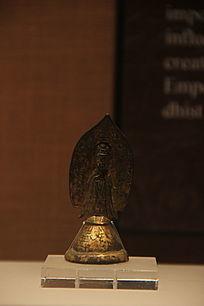 铜漆金观音菩萨像