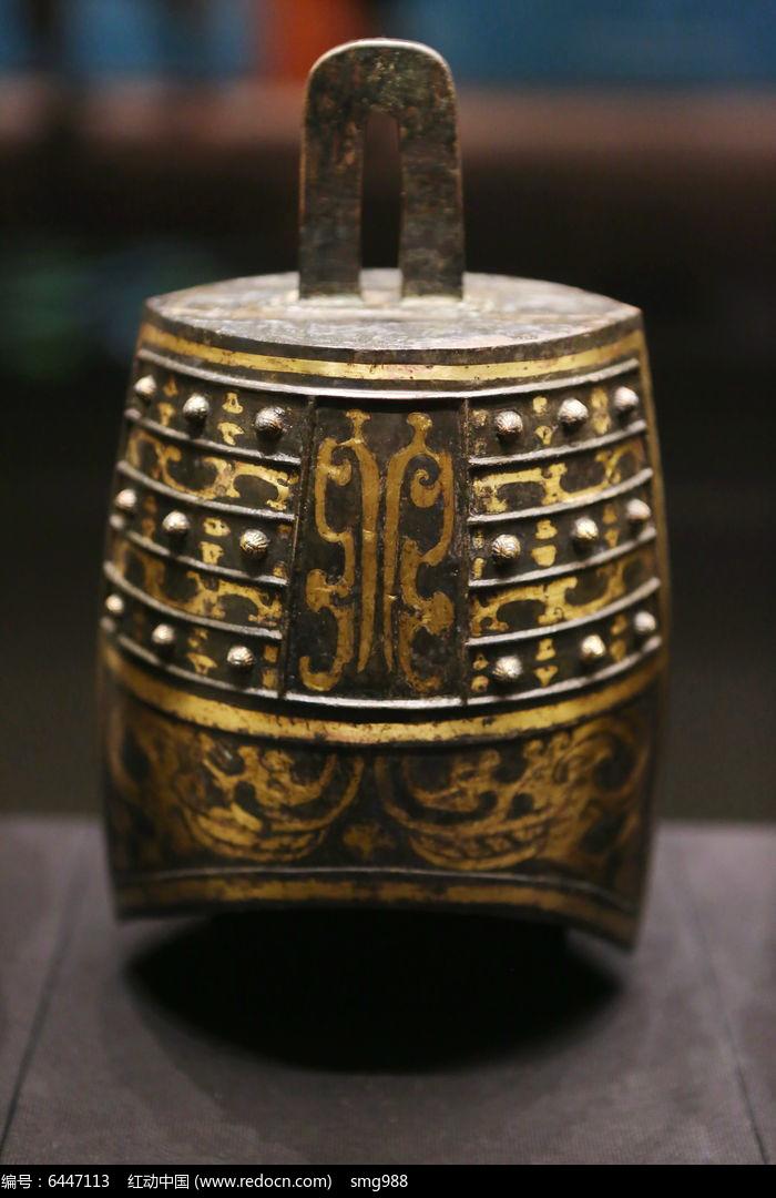 西汉海昏侯文物展鎏金花纹青铜编钟