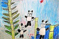 熊猫卡通画