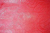 红色花纹背景