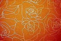 花卉皮革背景墙