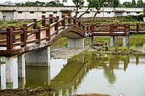 湖泊桥梁建筑