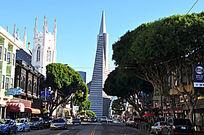 旧金山泛美金字塔Transamerica Pyramid街景