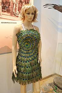 孔雀羽毛裙装