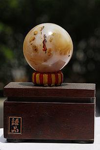 美女图案天然石