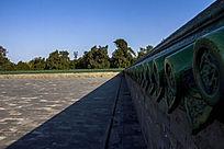 天坛围墙绿琉璃瓦