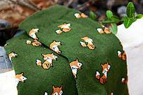 小狐狸卡通图案棉袜子