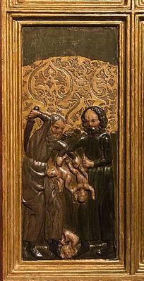 斩杀婴儿祭祀木雕