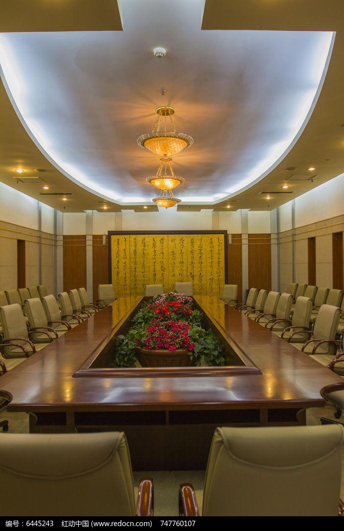 长方形会议室图片