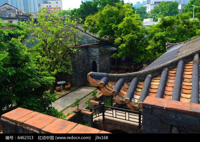 古建筑庭院景观图片