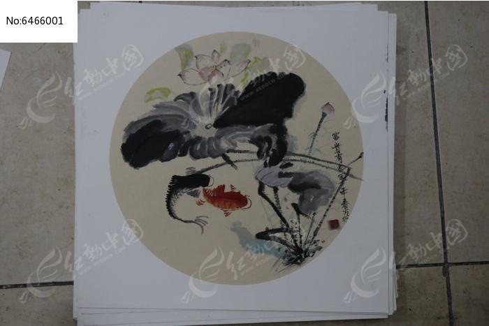 中国画荷花图片,高清大图_插画绘画素材