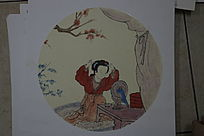 中国画梳妆的美女