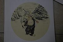 中国水墨画人物