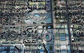 北京奥林匹克公园附近建筑沙盘