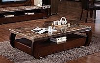茶几室内设计中国风茶几实木大理石