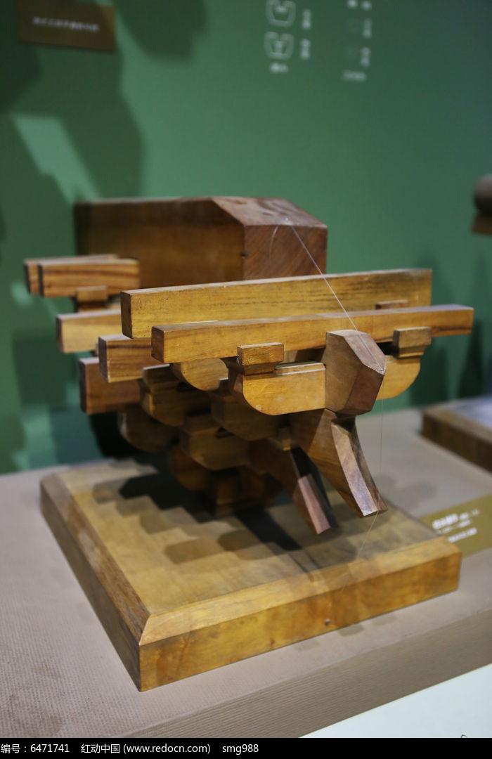 传统中式建筑斗拱榫卯柱头辅作模型