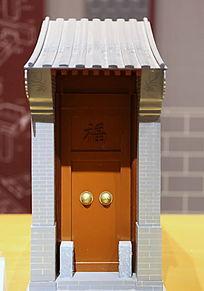传统中式窄大门模型