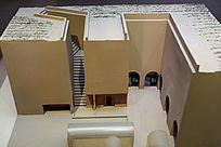 当代下沉式窑洞模型