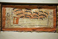公元220-316年甘肃嘉峪关出土的农业画像砖养蚕