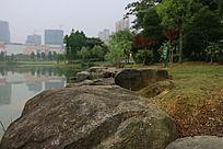 河边的大石头