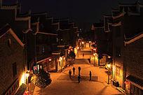 乾州古城街道夜景