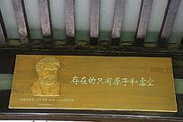 人大百家园名言木雕像德莫克里克