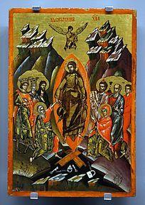 """""""耶稣复活""""祭奠盛宴神像画"""