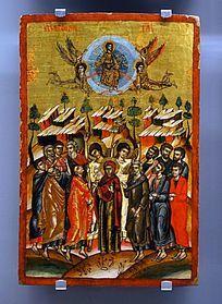 """""""耶稣升天""""祭奠盛宴神像画"""