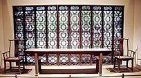 中式风格古典桌椅屏风