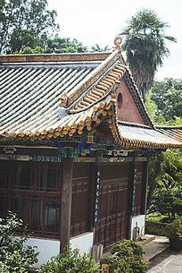 寺庙一角和绿色