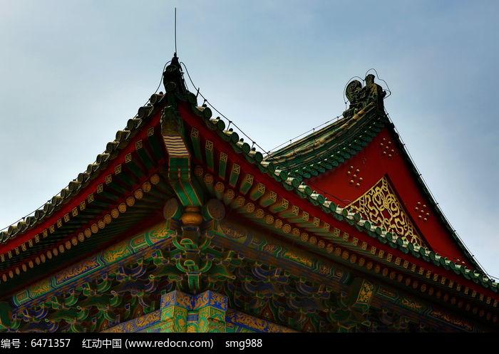 先农坛斗拱榫卯中式木屋檐图片