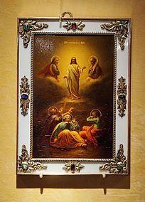 锡板油画《容光焕发的基督》