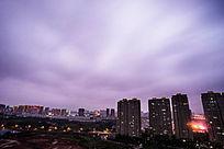 夜色下的云
