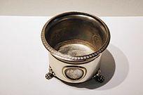 银雕硬币花瓶