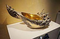紫水晶等材料制作的纪念版长柄船型酒杯