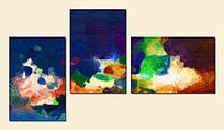 抽象画无框画拼画套画